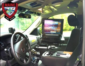 Interior of a Maine Warden's truck and mobile office space.