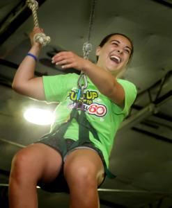 2014-15 State Ambassador, Madison Damon of Westbrook on the ropes at the 2014 National Summit in Dallas.
