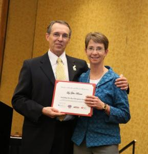liz gile brown with SHAPE President Steve Jefferies