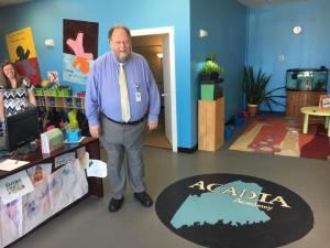 Commissioner Hasson at Acadia Academy in Lewiston