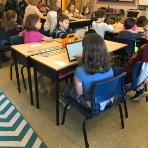Students in the MoMEntum K-3 Literacy Pilot Program