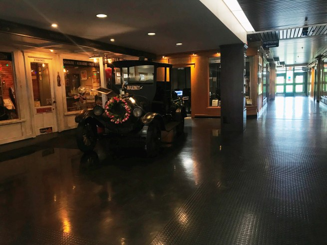 Lobby of UTC with its centerpiece, a Ford Model T