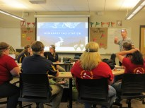 Workshop Session – Maine and Rhode Island FFA Officer Teams working with National FFA Trainer Alex Morrissey