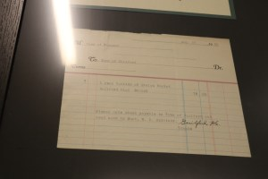 An old tuition bill for $75.00 from 1929.