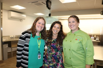 Maine DOE Child Nutrition staff members, Stephanie Stambach, Adriane Ackroyd, and Michele Bisbee.