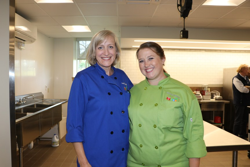 Child Nutrition Chefs, April Taylor and Michele Bisbee.