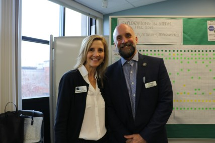 Tammy Ranger, Maine DOE Educator Excellence Coordinator and Ed Cervone, Thomas College Executive Director of the Center for Innovation in Education