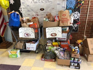 """James H. Bean School Gets Creative with """"The Final Countdown Food Drive"""""""