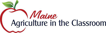 Maine Agriculture in the Classroom Logo - apple and text