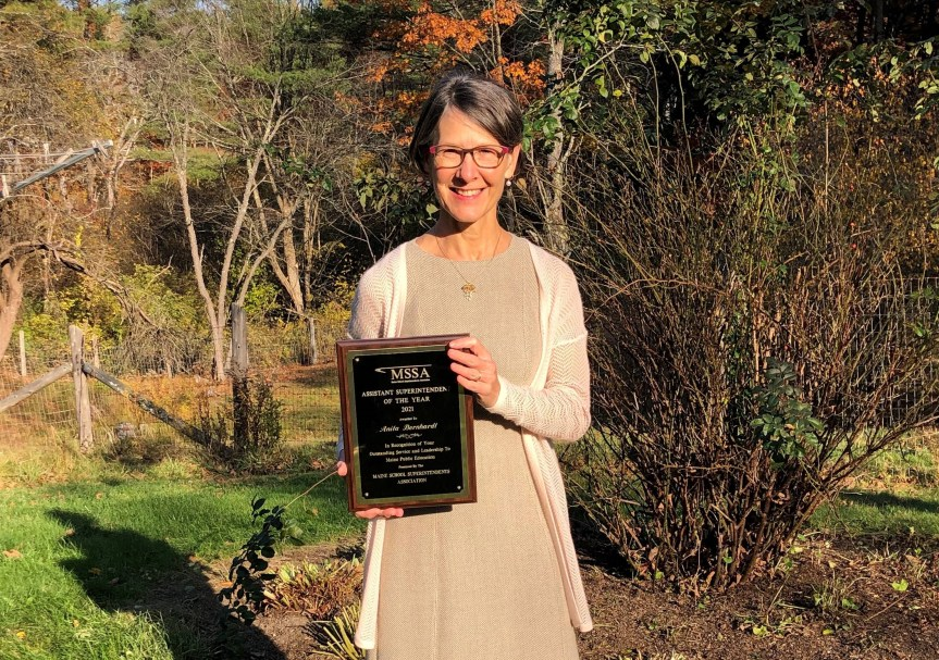 MEDIA RELEASE: Anita Bernhardt Named Maine Assistant Superintendent of the Year