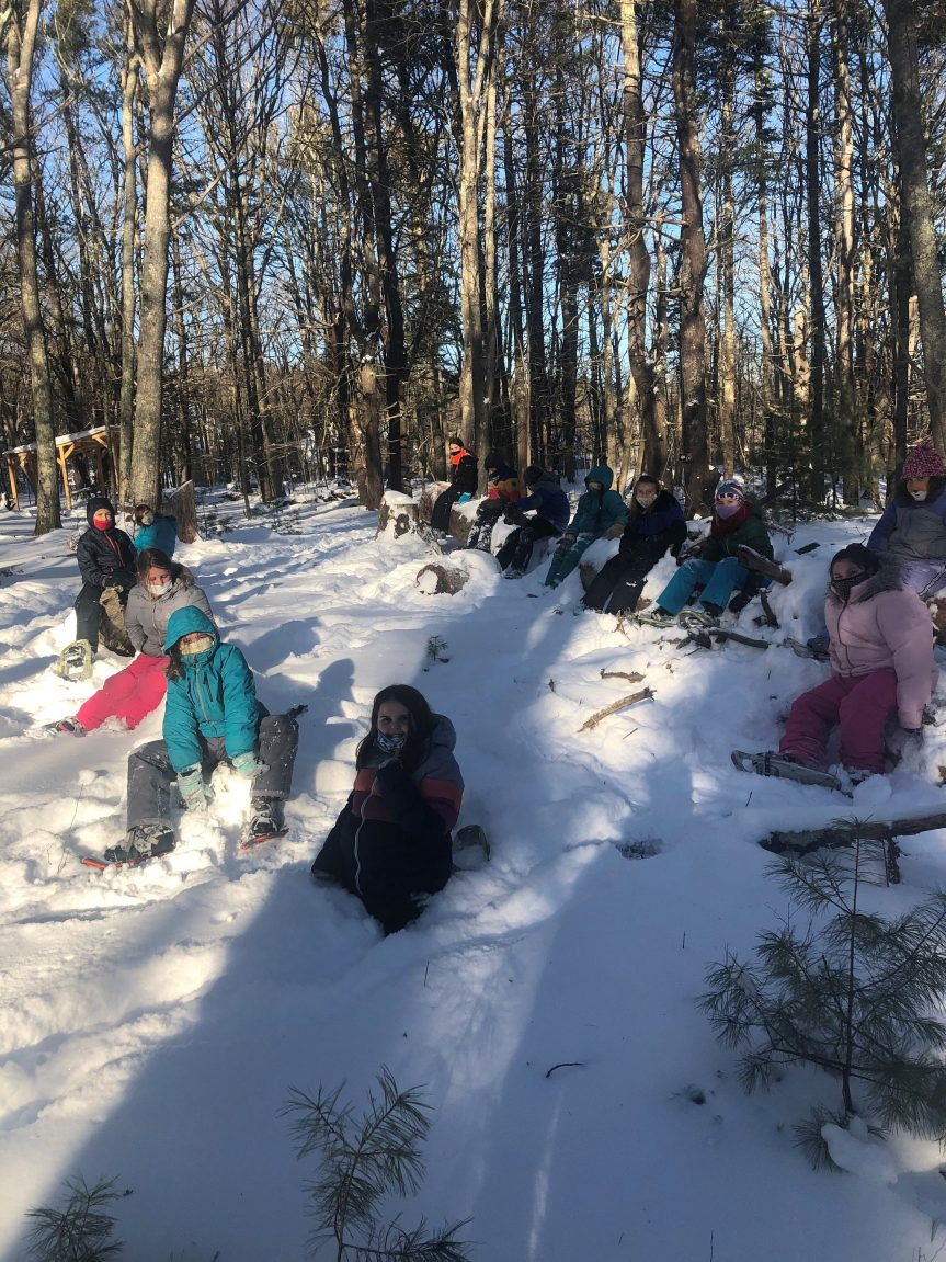 SNOWSHOEING, 3rd/4th graders, Georgetown Central School