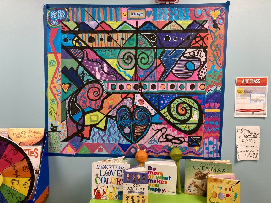 South Portland Art Teacher Engages Remote Learners with Collaborative Mural Project