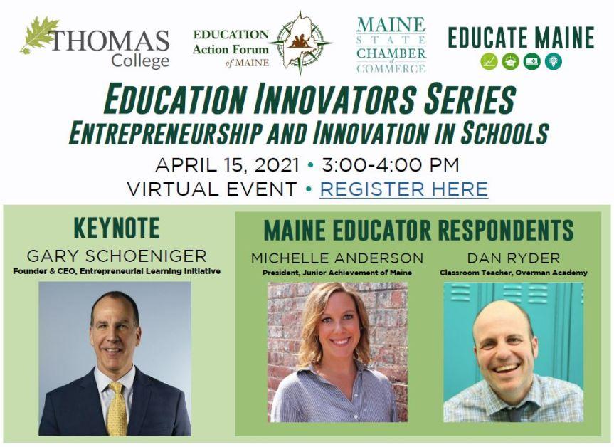 Education Innovators Speaker Series: Entrepreneurship and Innovation in Education