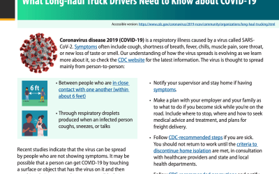 CDC Guidance for Over the Road Truck Drivers
