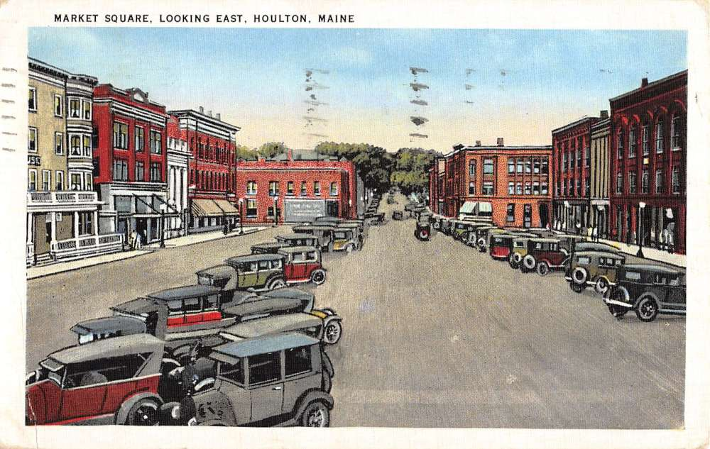 Market Square, Looking East, Houlton, Maine