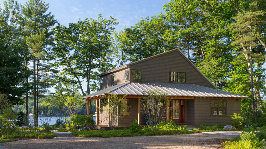 Summer Camp Style for a Lakeside Home  Maine Homes by Down East