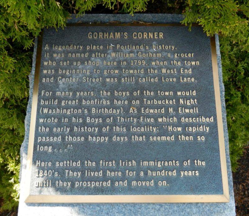 Gorhams Corner Plaque