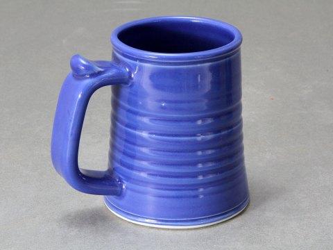 Porcelain Tankard — Blue Celadon Glaze