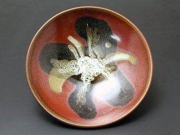 Oil Spot and Kakai Glazed Footed Bowl