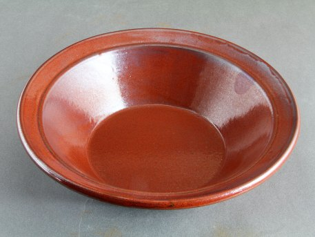 Stoneware Cassole with Iron Red Glaze