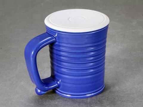 Porcelain Tankard — Deep Blue Celadon