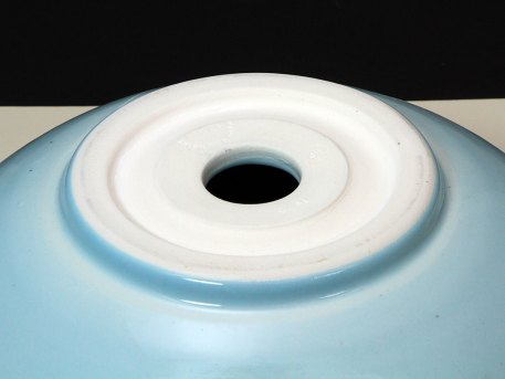 Bath Vessel Sink with Blue Celadon Glaze