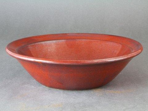 Stoneware Cassole with Iron Red Glaze