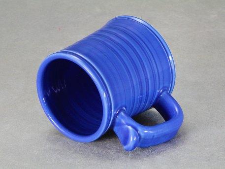 Porcelain Bistro Mug — Deep Blue Celadon