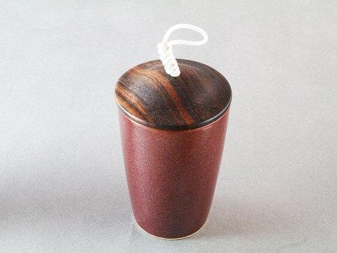 Kakai Porcelain Cup — Ebony Wood Lid