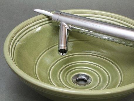 """Green Celadon 16"""" Vessel Sink"""