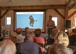 """Expert Birder, Louis Bevier, taught attendees """"birding basics"""" at the MLRC this July."""