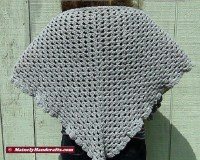 Crochet Granny Triangle Shawl Pattern ~ Dancox for