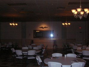 The finished ballroom.