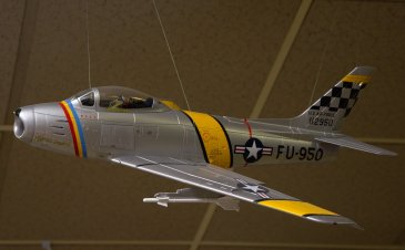 """Col. John Mitchell's F-86 as Wing Commander of the 51st Fighter Interceptor Wing """"Mitch's Squitch"""". He led the flight of P-38s in WW II that shot down Admiral Yamamoto."""
