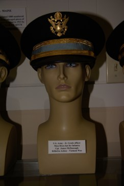 US Army Junior Grade Infantry officer mess dress hat worn by Captain James McDonough, Killed in Action, Vietnam War.