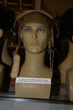 US Army Air Corps 1942 issue pilot's OD summer cloth flight helmet.