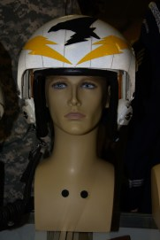 VAQ-134 Squadron Commander's Flight Helmet worn by Cdr. Ted Meserve, United States Navy.
