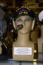 US navy Field Grade officer's flight cap from VP-45 ''Pelicans''.