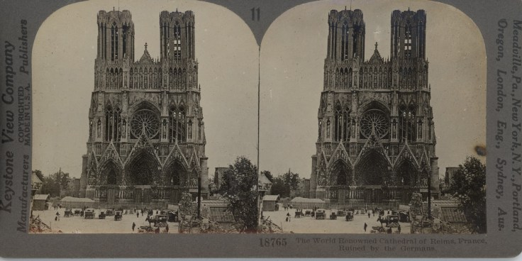 The World Renowned Cathedral of Reims, France, Ruined by the Germans