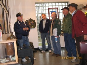 Visitors to the original (small) museum in 2009.