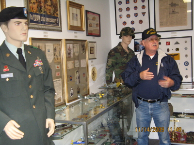 Exhibits in the original (small) museum in 2009.