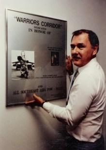 Lee Humiston's first major display, Warrior Corridor, on Norton AFB in Southern California in 1985.
