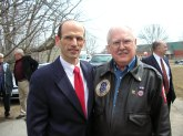 Governor Baldacci & Lee Humiston at the POW medal ceremony at the old little museum in the park.