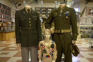 Bobbie Hinshaw wearing the original WW II sweater
