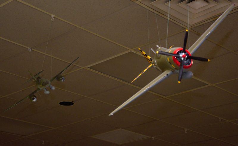 German ME-262 jet chasing an American P-47.