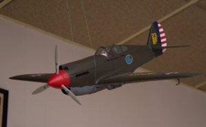 "WW II P-40 ""Warhawk"" at Langley Field in Virginia in 1941."