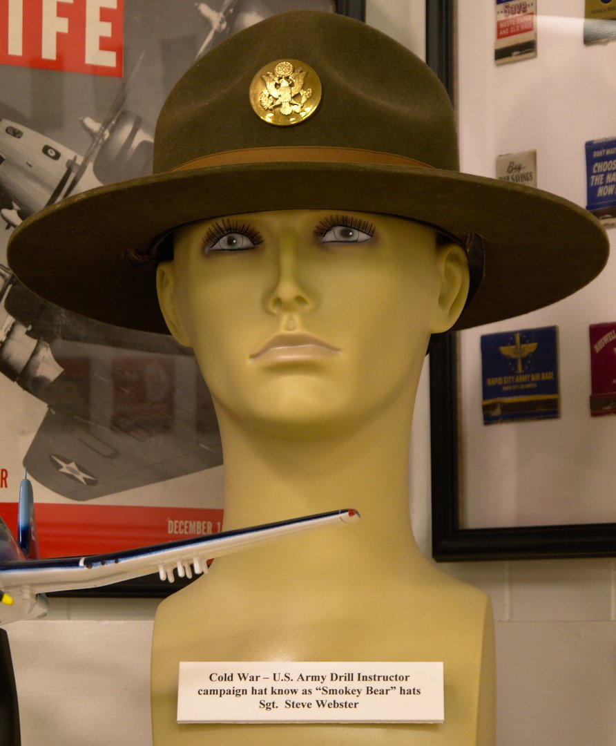 Drill Instructor hat for Sgt. Steve Webster, currently lead Detective for the City of South Portland.