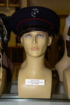World War II US Marine Corps enlisted blue winter hat worn by Cpl. Al Balko.