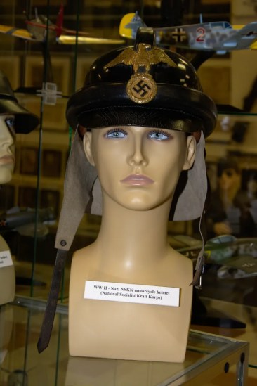 World War II Nazi National Socialist Kraft Korps (NSKK) motorcycle helmet