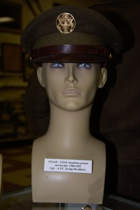 US Army Air Forces/US Air Force transition period service hat from 1948 to 1952 worn by Cpl. A 2/C Irving McAllister.